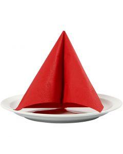 Serviettes de table, dim. 33x33 cm, rouge, 20 pièce/ 1 Pq.