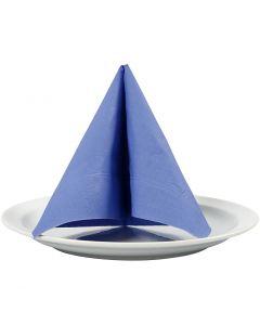 Serviettes de table, dim. 33x33 cm, bleu clair, 20 pièce/ 1 Pq.
