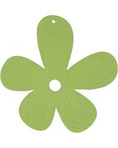 Fleur, dim. 57x51 mm, vert citron, 10 pièce/ 1 Pq.