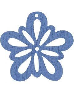 Fleur, d: 27 mm, bleu clair, 20 pièce/ 1 Pq.