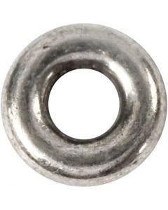 Perle espaceur, d: 9 mm, diamètre intérieur 4 mm, argent antique, 15 pièce/ 1 Pq.