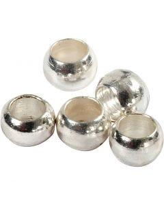 Perles à écraser, d: 2 mm, argenté, 100 pièce/ 1 Pq.