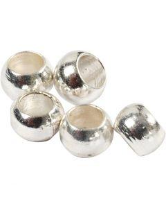 Perles à écraser, d: 2 mm, argenté, 1000 pièce/ 1 Pq.