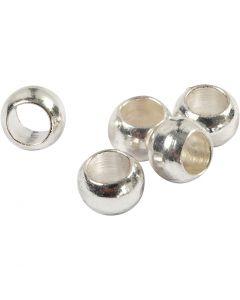 Perles à écraser, d: 2,5 mm, argenté, 100 pièce/ 1 Pq.