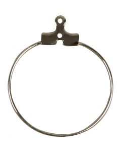Cerceaux à perles, d: 25 mm, argenté, 60 pièce/ 1 Pq.