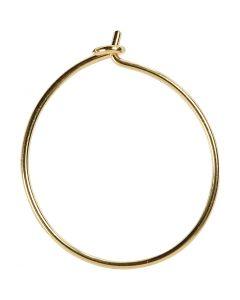 Cerceaux à perles, d: 20 mm, doré, 8 pièce/ 1 Pq.