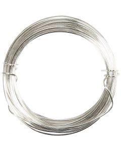 Fil argenté, ép. 0,6 mm, argenté, 10 m/ 1 rouleau
