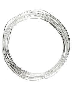 Fil argenté, ép. 1,2 mm, argenté, 3 m/ 1 rouleau