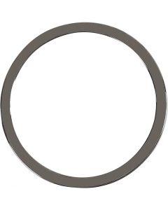 Pendentif, d: 30 mm, gris foncé métallique, 2 pièce/ 1 Pq.