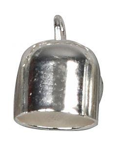 Embout, L: 11 mm, d: 8 mm, argenté, 6 pièce/ 1 Pq.