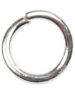 Boucles rondes , dim. 4,4 mm, ép. 0,7 mm, argenté, 500 pièce/ 1 Pq.