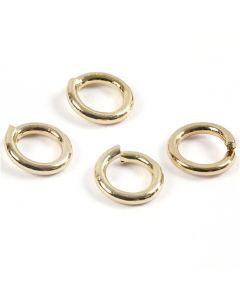Boucles rondes , doré, 500 pièce/ 1 Pq.
