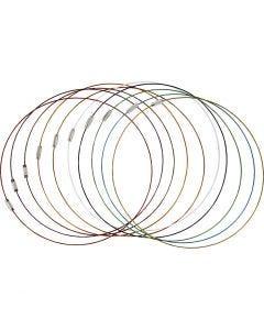 Bracelets avec fermeture , L: 45 cm, ép. 1 mm, 20 pièce/ 1 Pq.