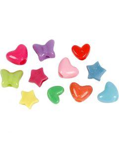 Perles de couleur, d: 10 mm, diamètre intérieur 3,5 mm, 125 ml/ 1 Pq.