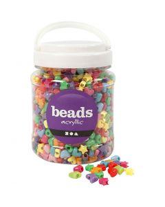 Perles de couleur, d: 10 mm, diamètre intérieur 3,5 mm, couleurs assorties, 700 ml/ 1 boîte