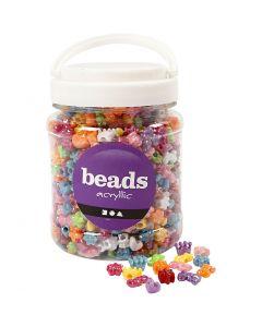 Perles plastique Novelty, d: 10 mm, diamètre intérieur 3 mm, couleurs assorties, 700 ml/ 1 boîte