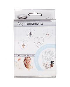 Ornements Ange, H: 3,5 cm, 8 pièce/ 1 Pq.
