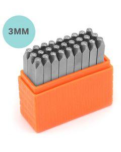 Set de tampons relief, Minuscules, dim. 3 mm, Police: marin , 27 pièce/ 1 set