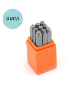 Set de tampons relief, Chiffres, dim. 3 mm, Police: marin , 9 pièce/ 1 set