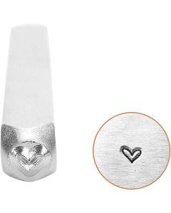 Tampon relief, Coeur, L: 65 mm, dim. 3 mm, 1 pièce