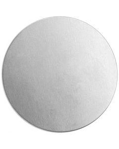 Plaque métallique, Rond, d: 20 mm, ép. 1,3 mm, aluminium, 15 pièce/ 1 Pq.