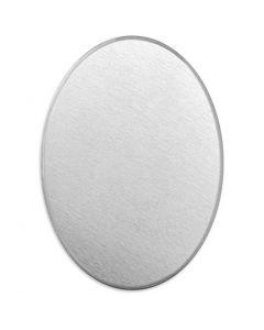 Plaque métallique, Oval, dim. 18x13 mm, ép. 1,3 mm, aluminium, 15 pièce/ 1 Pq.