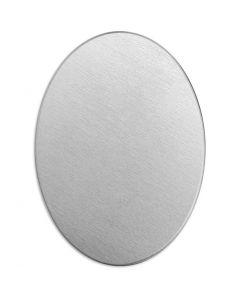 Plaque métallique, Oval, dim. 25x18 mm, ép. 1,3 mm, aluminium, 15 pièce/ 1 Pq.