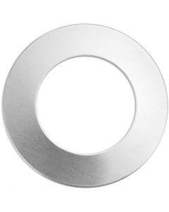 Plaque métallique, Anneau, d: 32 mm, diamètre intérieur 19,32 mm, ép. 1,3 mm, aluminium, 9 pièce/ 1 Pq.