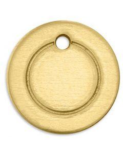 Plaque métallique, Anneau, d: 13 mm, diamètre intérieur 1,85 mm, ép. 1 mm, laiton, 11 pièce/ 1 Pq.