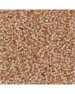 Rocailles, d: 1,7 mm, dim. 15/0 , diamètre intérieur 0,5-0,8 mm, Pêche, 25 gr/ 1 Pq.