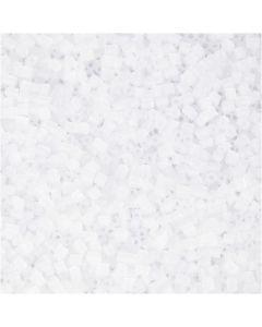 2-cut, d: 1,7 mm, dim. 15/0 , diamètre intérieur 0,5 mm, blanc, 500 gr/ 1 sac