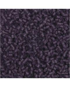 2-cut, d: 1,7 mm, dim. 15/0 , diamètre intérieur 0,5 mm, violet givré, 500 gr/ 1 sac