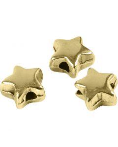 Perle espaceur, dim. 5,5x5,5 mm, diamètre intérieur 1 mm, doré, 3 pièce/ 1 Pq.