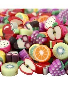Perles en argile, d: 10 mm, diamètre intérieur 1,5 mm, 200 ass./ 1 Pq.