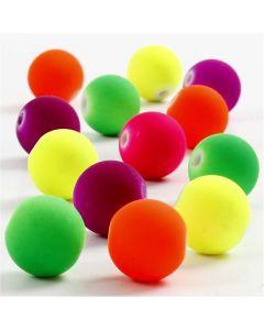 Perles fluos, d: 12 mm, diamètre intérieur 2 mm, 200 gr/ 1 Pq.