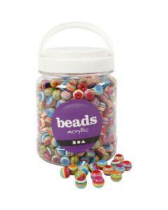 Perles Multi Mix, d: 12 mm, diamètre intérieur 1,5 mm, 700 ml/ 1 boîte