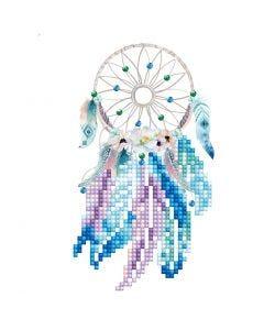 Diamond Dotz, Capteur de rêves, dimension carte 12,6x17,7 cm, dimension enveloppes 13,6x18,6 cm, 1 Pq.