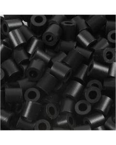 Perles à repasser, dim. 5x5 mm, diamètre intérieur 2,5 mm, medium, noir (32220), 1100 pièce/ 1 Pq.