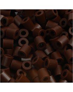 Perles à repasser, dim. 5x5 mm, diamètre intérieur 2,5 mm, medium, brun (32229), 1100 pièce/ 1 Pq.