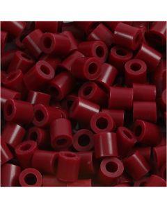 Perles à repasser, dim. 5x5 mm, diamètre intérieur 2,5 mm, medium, rouge vin (32239), 1100 pièce/ 1 Pq.