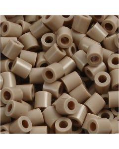 Perles à repasser, dim. 5x5 mm, diamètre intérieur 2,5 mm, medium, beige (32248), 6000 pièce/ 1 Pq.