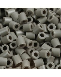Perles à repasser, dim. 5x5 mm, diamètre intérieur 2,5 mm, medium, cendré (32226), 1100 pièce/ 1 Pq.