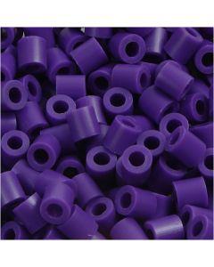 Perles à repasser, dim. 5x5 mm, diamètre intérieur 2,5 mm, medium, violet foncé (32234), 1100 pièce/ 1 Pq.
