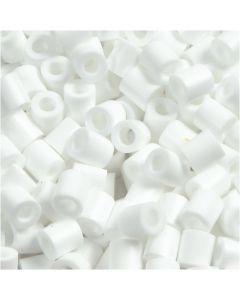 Perles à repasser, dim. 5x5 mm, diamètre intérieur 2,5 mm, medium, blanc (32221), 1100 pièce/ 1 Pq.