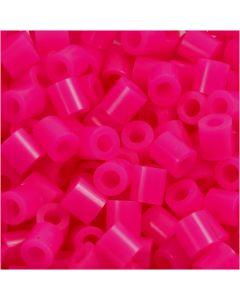 Perles à repasser, dim. 5x5 mm, diamètre intérieur 2,5 mm, medium, cerise (32258), 1100 pièce/ 1 Pq.
