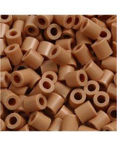 Perles à repasser, dim. 5x5 mm, diamètre intérieur 2,5 mm, medium, brun clair (32260), 6000 pièce/ 1 Pq.