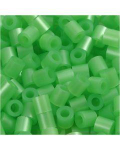 Perles à repasser, dim. 5x5 mm, diamètre intérieur 2,5 mm, medium, vert nacre (32240), 6000 pièce/ 1 Pq.