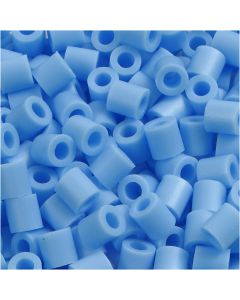 Perles à repasser, dim. 5x5 mm, diamètre intérieur 2,5 mm, medium, bleu pastel (32224), 6000 pièce/ 1 Pq.