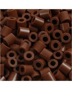 Perles à repasser, dim. 5x5 mm, diamètre intérieur 2,5 mm, medium, chocolat (32249), 1100 pièce/ 1 Pq.