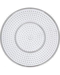 Plaque à picots, Grand cercle, d: 15 cm, transparent, 1 pièce